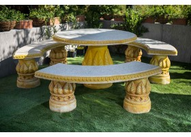 Garden Set Consisting Of 3 Large Benches