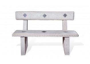 مقعد حجري بمسند للظهر مقاس 145x40x97  سم