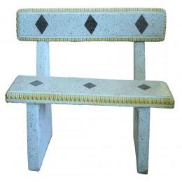 مقعد حجري بمسند للظهر مقاس 145*40*97  سم