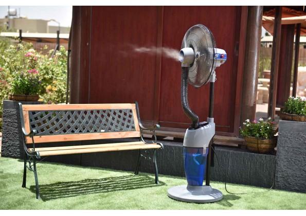 Garden Fan With Refreshing Spray