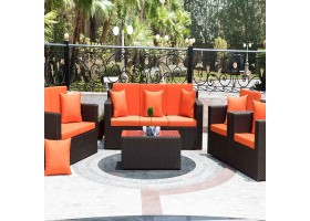 Rattan Kit With Cushions With Modern Colors