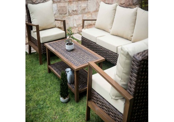 Garden Seating Set Of Elegant And Simple Rattan