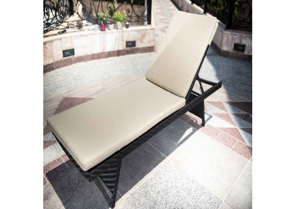 Reclining Chair Of Aluminum And Rattan