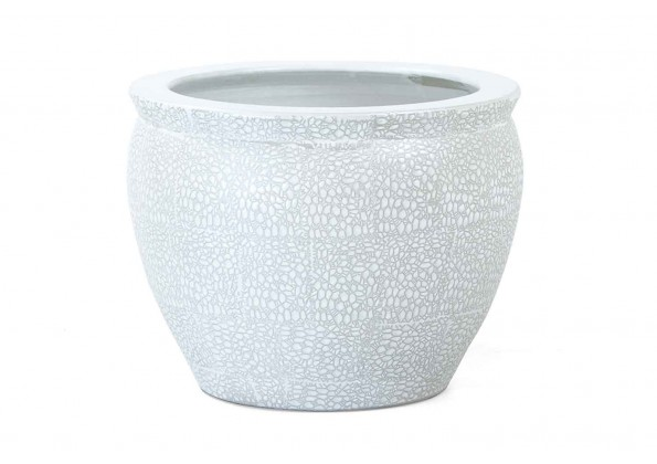 Pot With A Grey Engraved Color