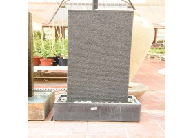 A Granite Fountain With One Part And Rectangle Base
