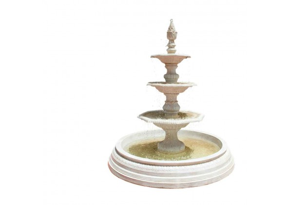A Fiber Glass Fountain With Layers