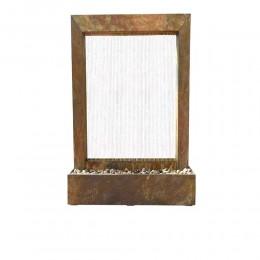 نافورة من الفايبر قلاس مربعة الشكل
