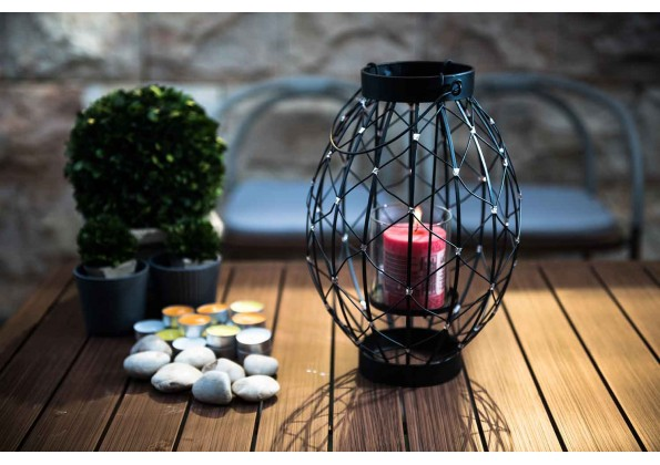 A Bowling Ball Shape Candle Holder
