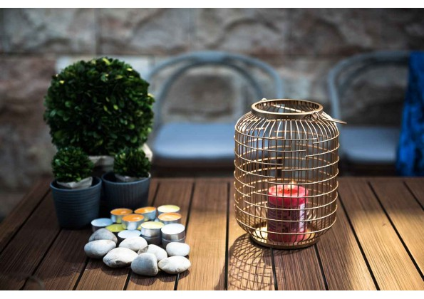 A Birds-Cage Shape Candle Holder