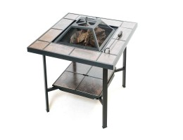 A Square Table Shape Fireplace