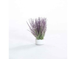 نبتة صناعية ملونة مع مركن دائري