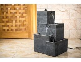 نافورة فايبر قلاس مربعة من أربعة طبقات