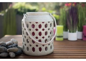 A Lantern Shape Ceramic Candle Holder