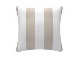Elegant Beige And White Cushion