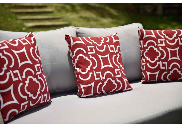 Elegant Red And White Cushion