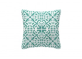 Elegant Green And White Cushion