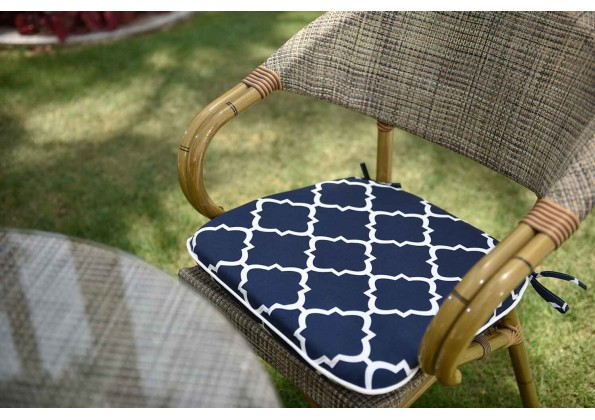 Elegant Blue And White Cushion