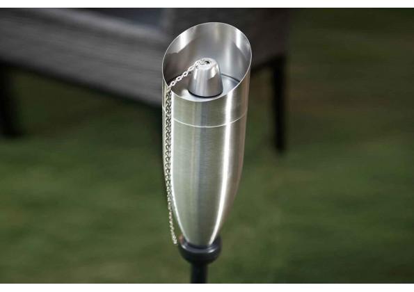 A metal Garden Torch