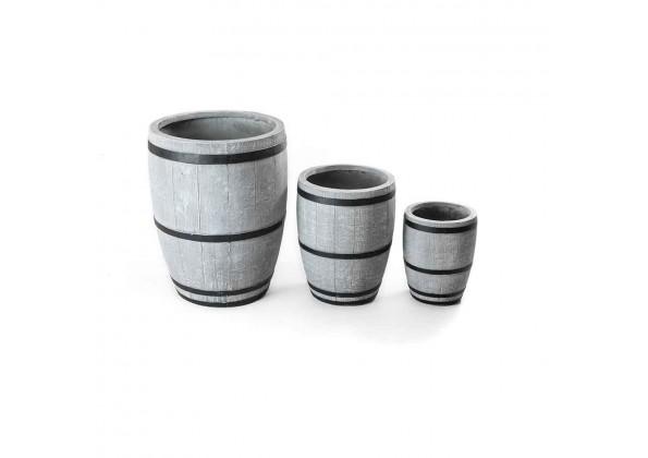 Gray Fiberglass Pot
