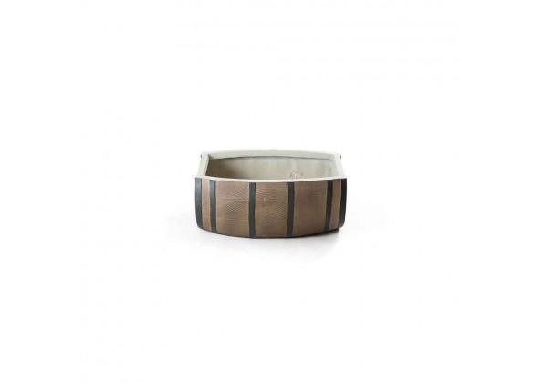 Fiberglass Pot In Wooden Shape