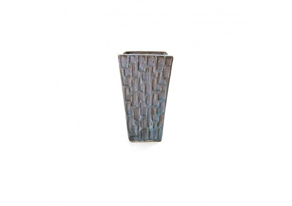 Multi Color Engraved Ceramic Pot