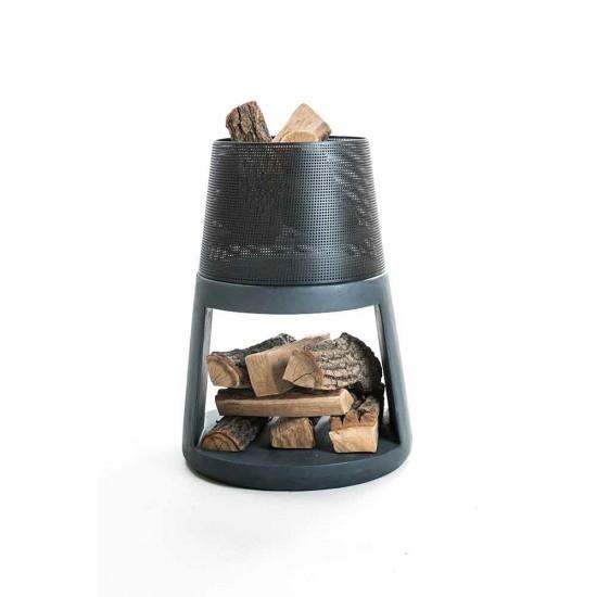 موقد حطب من الحديد المخرم