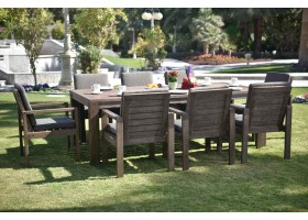 Garden Dining Set For 8 Persons