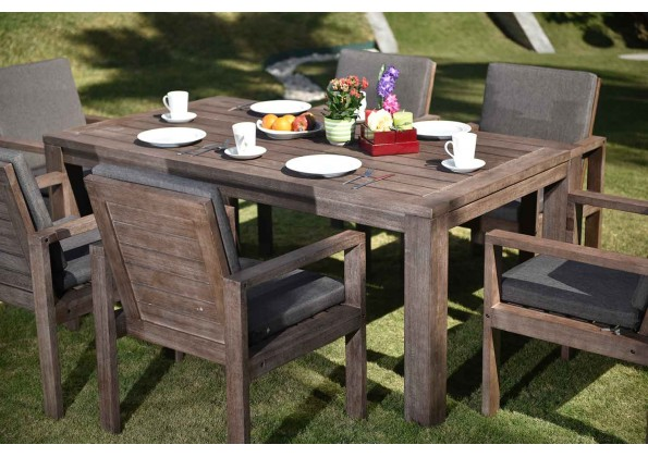 Garden Dining Set For 6 Persons