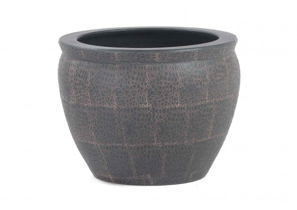 Pot In Brown Engraved Color