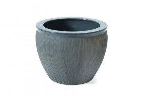 Silver Embossed Pot