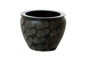 Dark Brown Pot With Beautiful And Modern Engravings