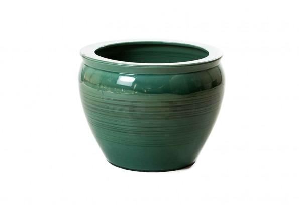 Green Embossed Pot