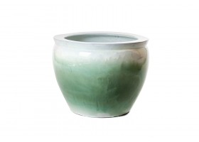 Light Green  Pot With Gray Edges
