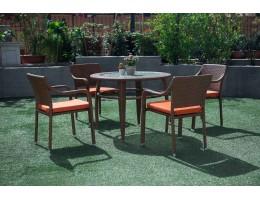 جلسة حديقة لأربعة اشخاص من الراتان الصناعي