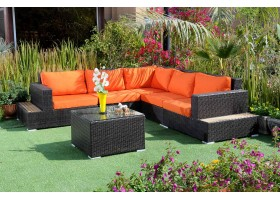Corner Garden Set Made From Polyethylene