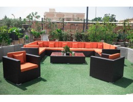 طقم حديقة من الراتان ذات تصميم انيق