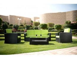 طقم جلوس حدائق من الراتان الصناعي