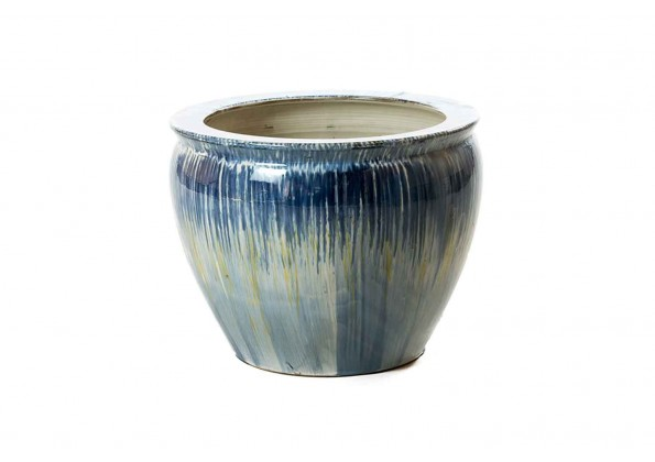 Modern Pot In Blue And Gray Color