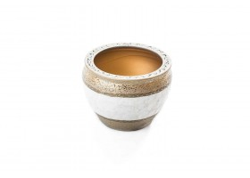 Golden Pot With Whit Edges