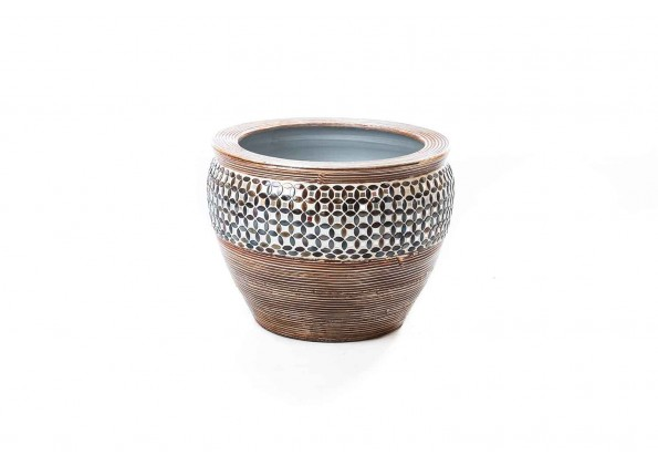 Engraved Brown Pot