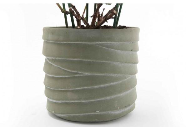 A circular Cement Pot
