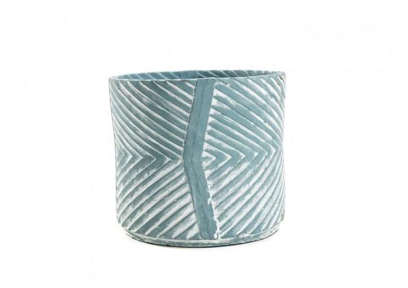 Engraved Circular Pot
