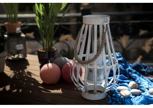 Candle Holder In Bird Cage Shape
