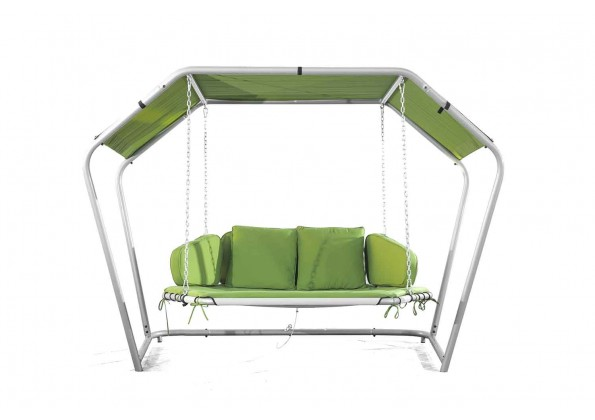 A comfortable Swing chair In A bed Shape
