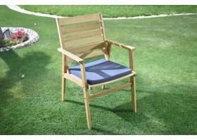 كرسي جلوس خشبي مفرد