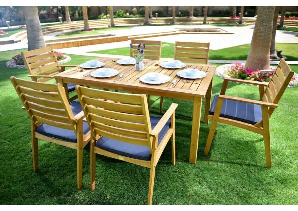 جلسة طعام حدائق خشبية