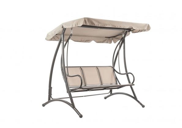 ارجوحة حديقة ستيل ومظلة قماش